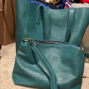 Joy suser large tote bag with smaller zipper bag
